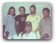 Estudio Globo AM com Tuninho, Fabinho, Brinquinho e Luiz de França 12/1990