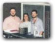 Estudio da 98FM com Heleno Rotay e Ana Flores 03/1996