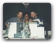 Estudio da 98FM com Fernando Borges e a Telefonista Ana 03/1996