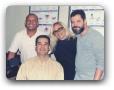 Estudio da Globo AM com Mário Esteves, Brinquinho e a Cantora Adriana 09/99