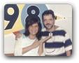 Estudio da 98FM com Monika Venerabile 05/2003