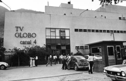 Sede da TV Globo. A emissora começou a funcionar em 26 de abril de 1965