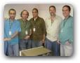 Gilberto, Claudino, Alexandre, Max e Rogério